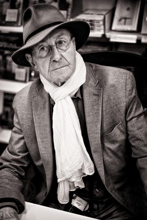 Magnum photographer René Burri at his book signing in the Photographers' Gallery book shop, Ramillies Street, London. April 24, 2013. Photo: Edmond Terakopian
