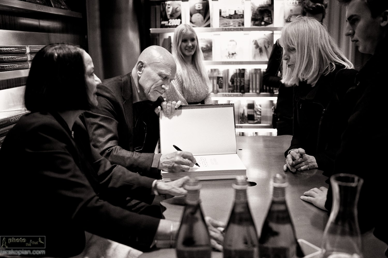 Sebastião Salgado: Genesis book signing.   L-R: Lélia Wanick Salgado (wife, curator & editor of the book) and photographer Sebastião Salgado. TASCHEN Store London, 12 Duke of York Square, London. April 10, 2013. Photo: Edmond Terakopian