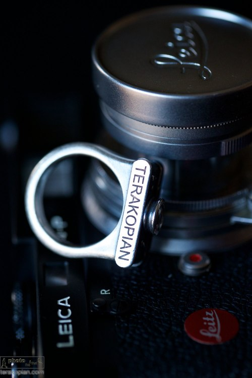 The Leica Shot ring by Florian Huhoff. Showing the optional engraving. October 22, 2013. Photo: ©Edmond Terakopian