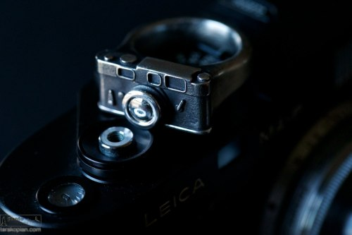The Leica Shot ring by Florian Huhoff. October 22, 2013. Photo: ©Edmond Terakopian