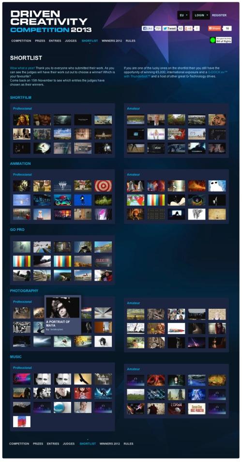 Driven Creativity Shortlist 2013