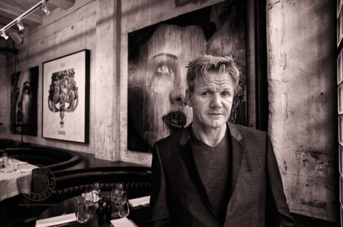 Gordon Ramsay's Union Street Cafe, 47-51 Great Suffolk Street, Southwark, London SE1.  Gordon Ramsay at the restaurant.  August 30, 2013. Photo: ©Edmond Terakopian