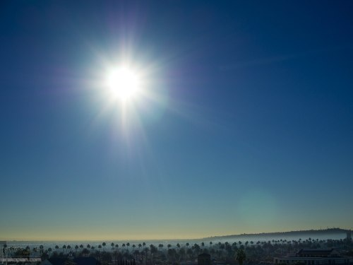 The sun rises over Los Angeles, California, USA. January 13, 2014. Photo: Edmond Terakopian