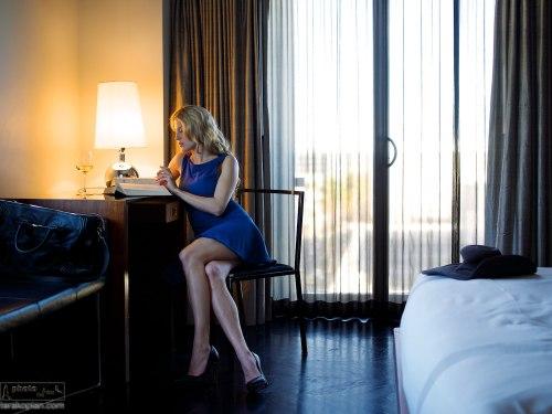Andrea Feczko (American TV Presenter and digital content creator - www.andreafeczko.com), at the lavish Thompson Beverly Hills Hotel, LA, USA. January 14, 2014. Photo: Edmond Terakopian