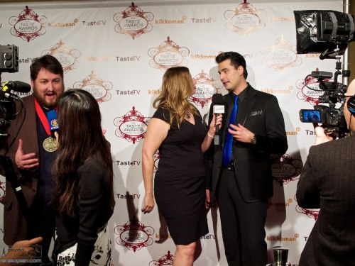 TV interviews with some of the winners. The 5th annual Taste Awards red carpet ceremony and celebrations, The Egyptian Theatre, Hollywood Boulevard, Hollywood, California, USA. January 16, 2014.  Photo: Edmond Terakopian