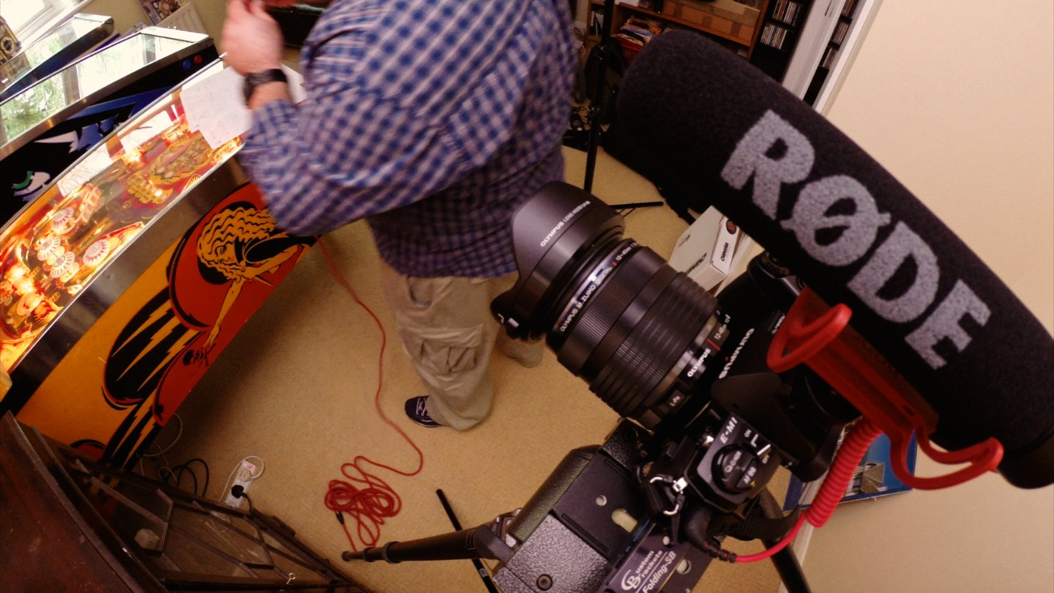 A Rode VideoMic Go on an Olympus OM-D E-M1. 1 Sixpence 1 Play pinball film frame grabs. Photo: Magda Rakita