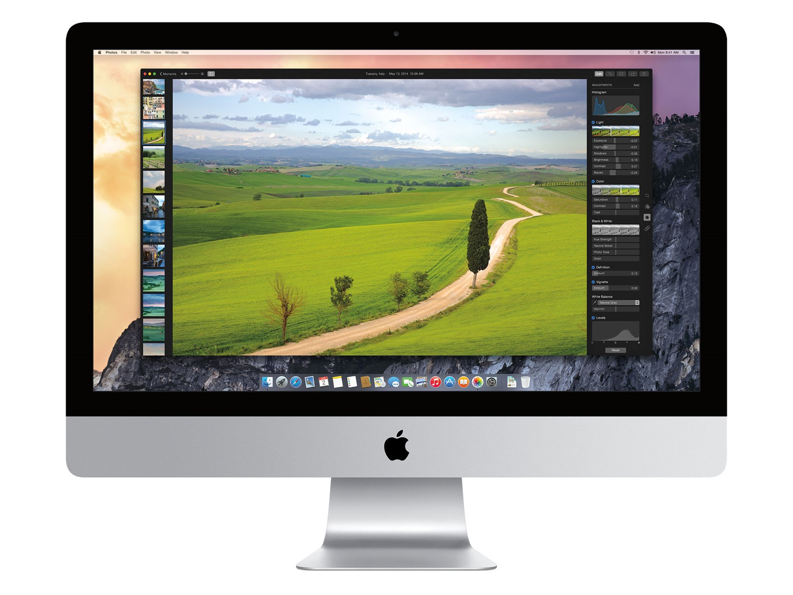 Apple's new Photos App for OS X Yosemite. Photo: Apple