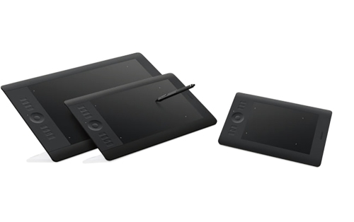 The Wacom Intuos 5 family of tablets. As you can see, the new Pro series look almost identical. Photo: ©Wacom