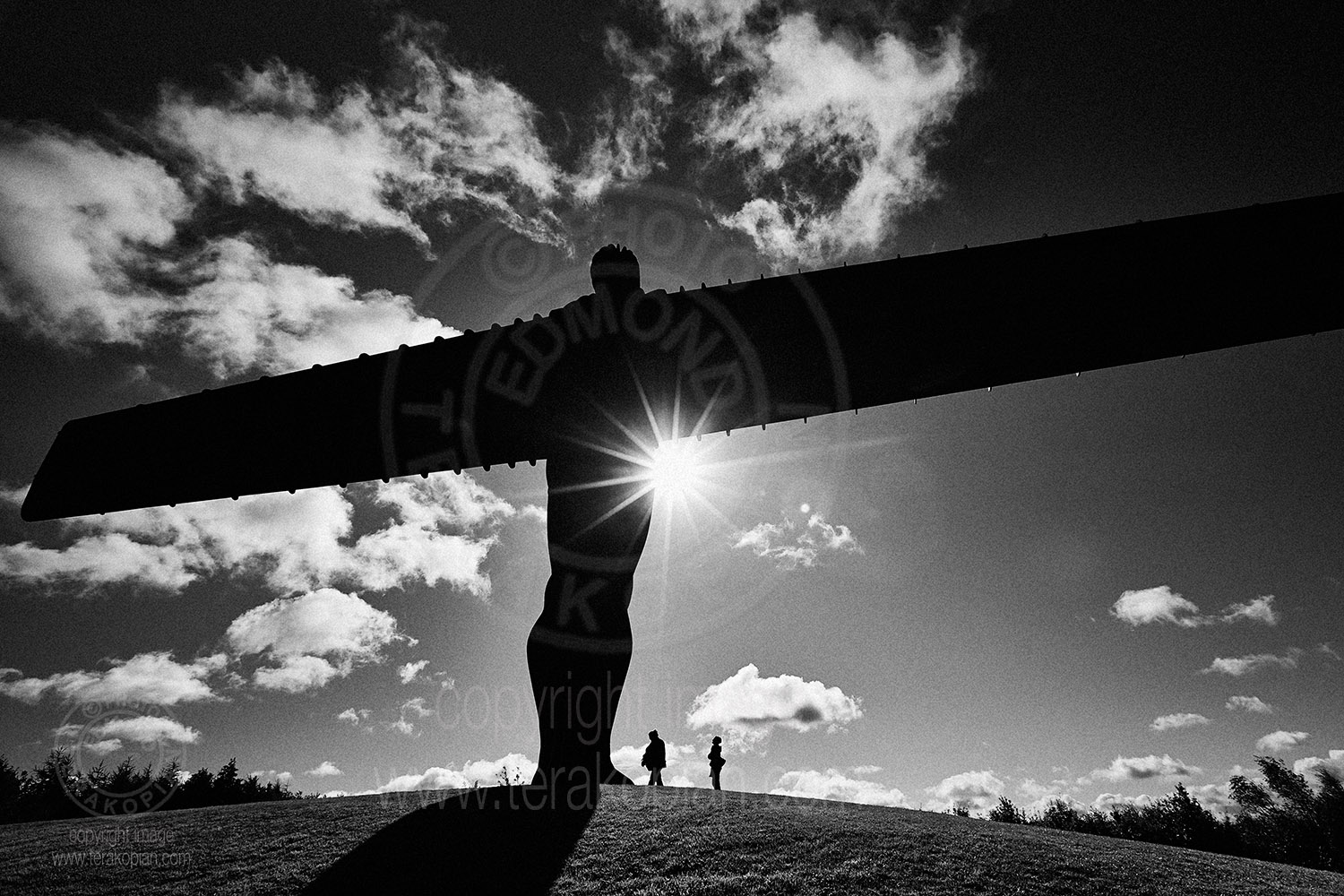 The Angel of the North sculpture by Antony Gormley, Gateshead, Tyne and Wear, England. September 11, 2012. Photo: ©Edmond Terakopian