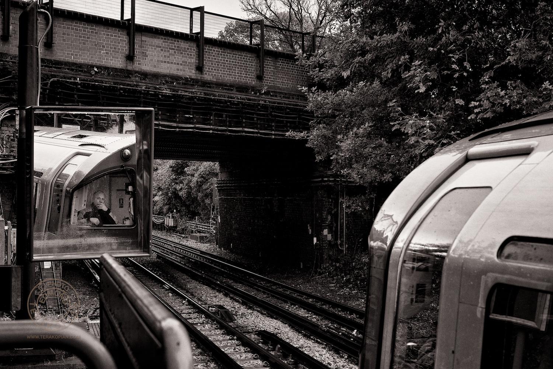Tube Driver, London Underground. November 05, 2013. Photo: ©Edmond Terakopian