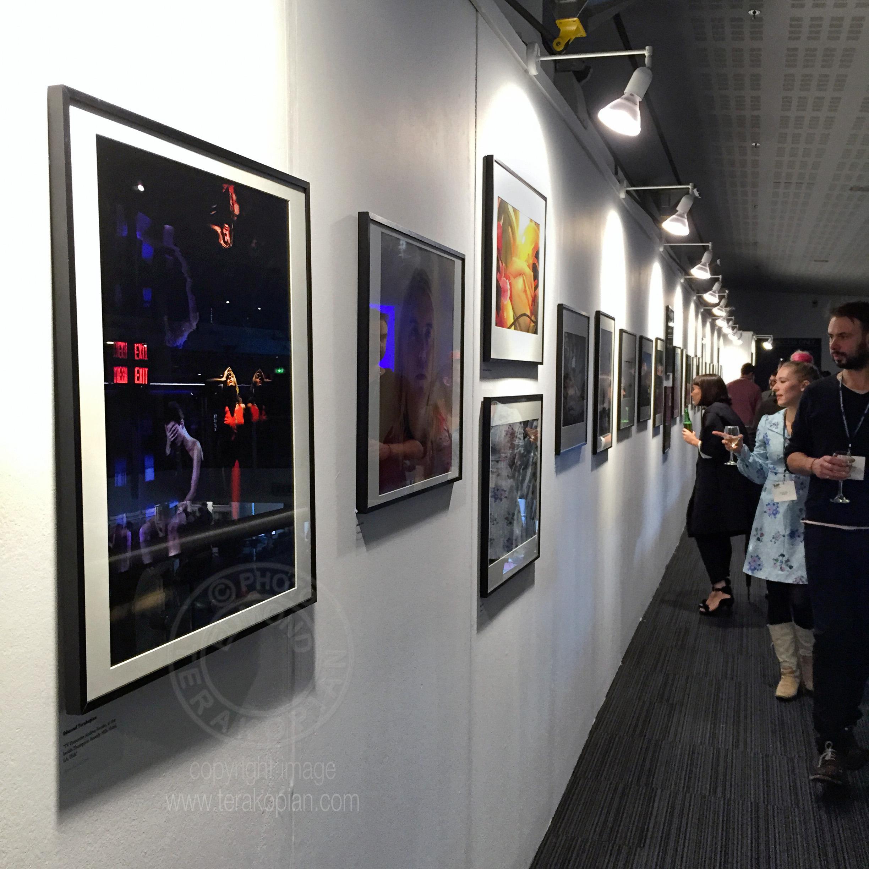 2014 AOP Photographers Awards. Portrait of Andrea Feczko by Edmond Terakopian, which was a finalist in the Open Award. Islington Business Design Centre, London. December 11, 2014. Photo: Edmond Terakopian