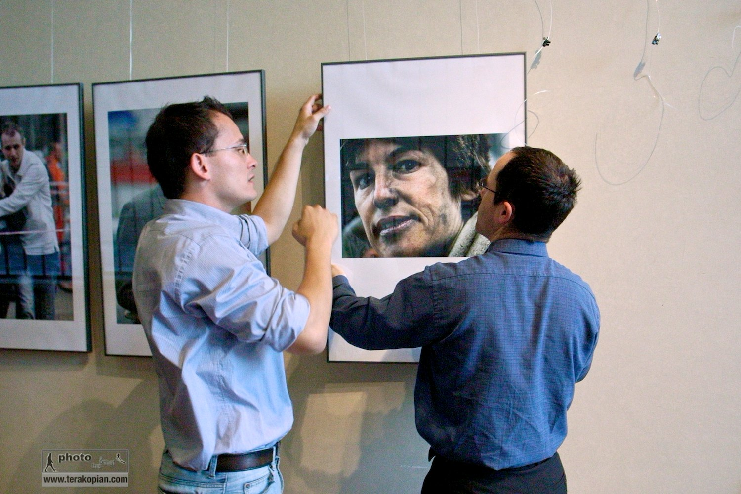 The exhibition is hung. In Prague to receive the Prize of Prague and view my solo exhibition which was part of the prize. September 2006. Photo: Edmond Terakopian