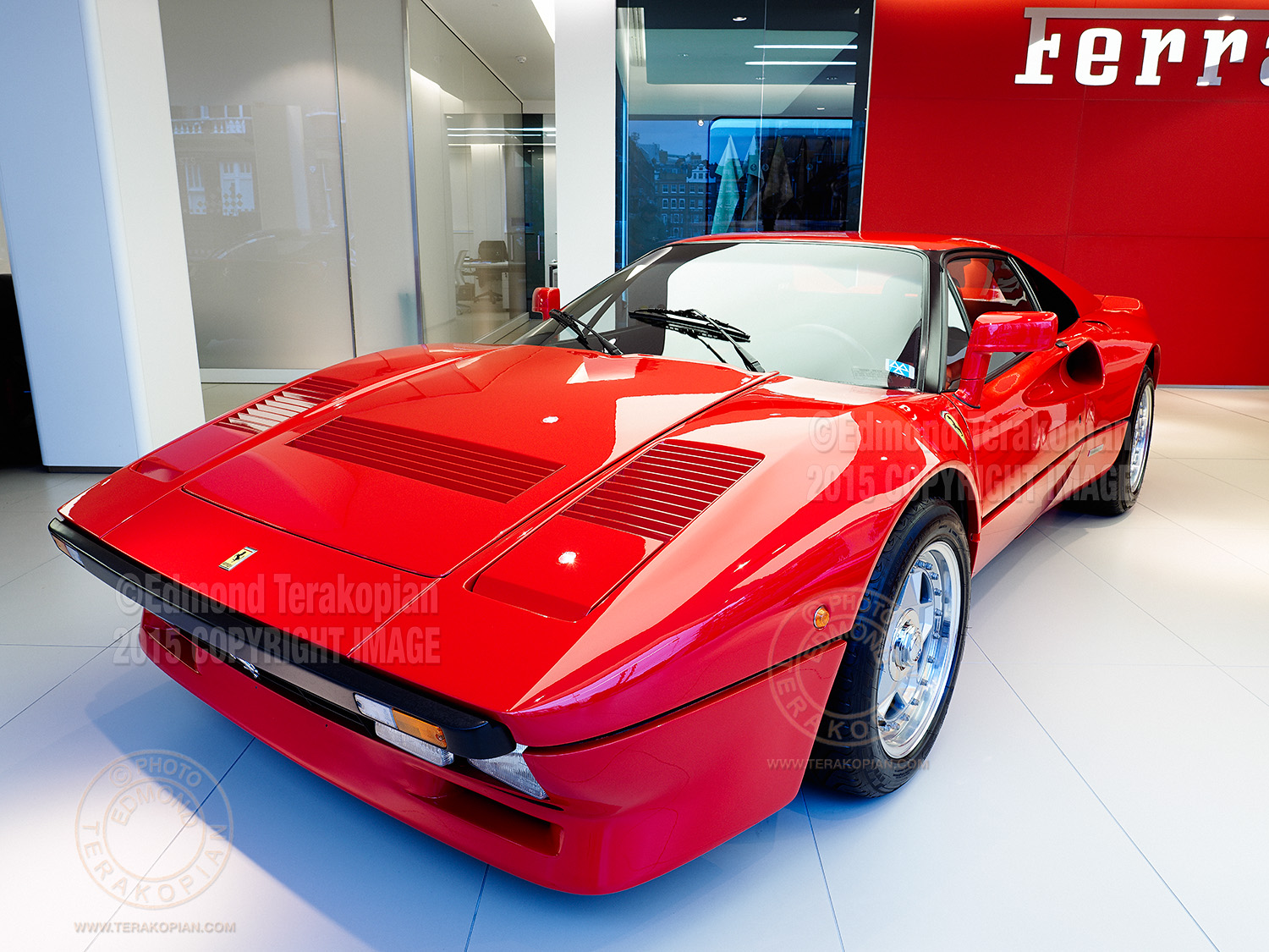 A rare Ferrari 288 GTO built in 1985 with only 883 miles on the clock. It is valued at £2,000,000 and available from H.R. Owen in South Kensington, London. Image shot on the Olympus OM-D E-M5 II, using the multi shot sensor shift facility, creating a 40 megapixel image. January 30, 2015. Photo: ©Edmond Terakopian