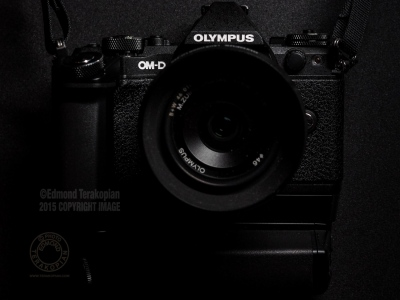 My black Olympus OM-D E-M5 Mark II camera and M.Zuiko 17mm f1.8 lens. April 29, 2015. Photo: Edmond Terakopian