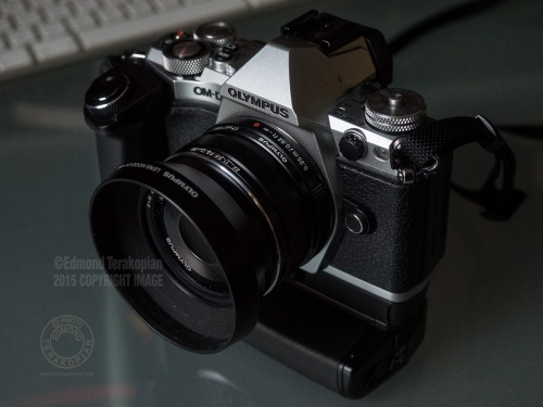 The new Olympus OM-D E-M5 Mark II. The two grips, the HLD-8 Power Battery Grip. February 05, 2015. Photo: © Edmond Terakopian
