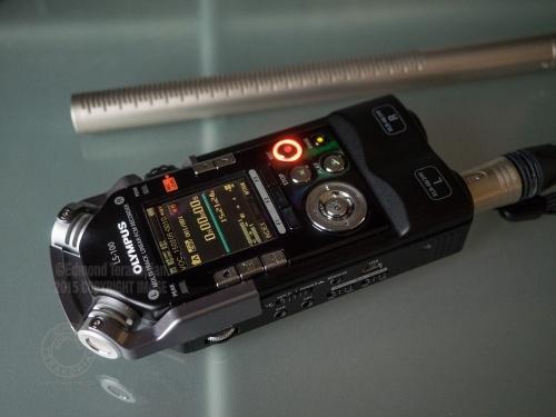 The Olympus LS-100 audio recorder and Rode NTG3 microphone.. February 05, 2015. Photo: © Edmond Terakopian