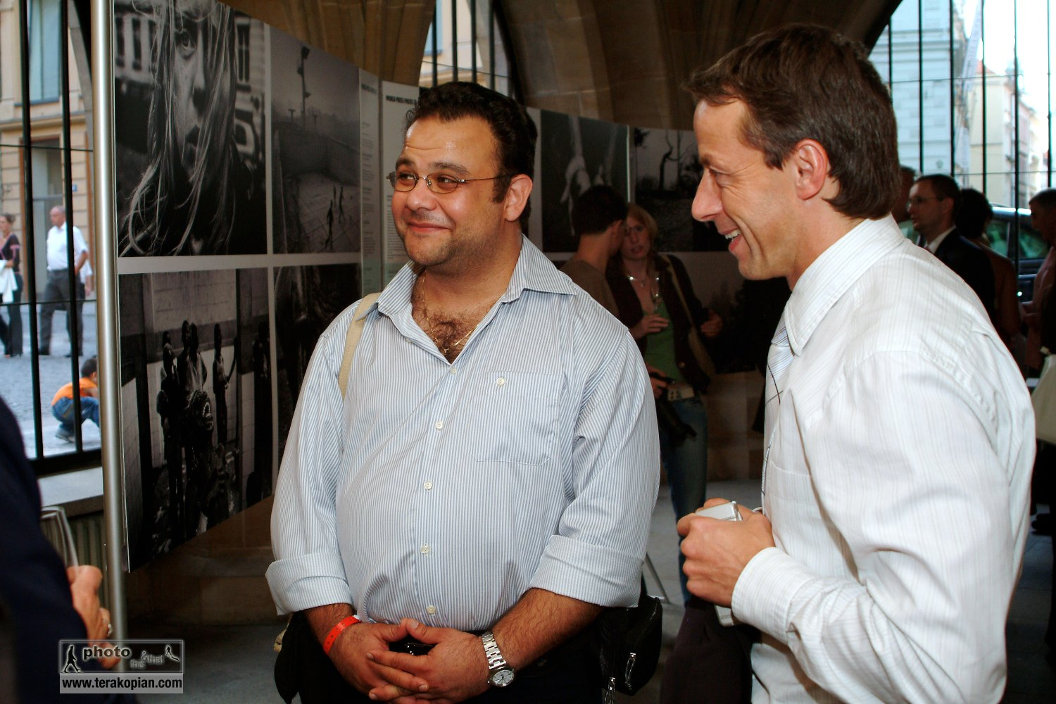 In Prague to recieve the Prize of Prague and view my solo exhibition which was part of the prize. September 2006. Photo: FotoPajer