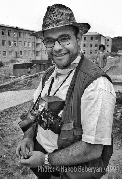 Edmond Terakopian in Shushi, Karabakh. August 1994. Photo: Hakob Berberyan