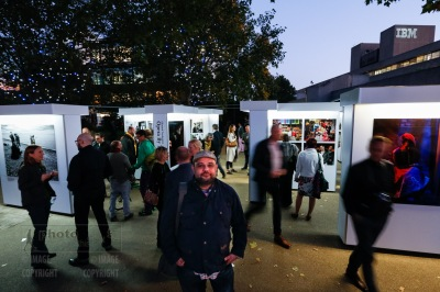 Edmond Terakopian at the opening of his new exhibition Opera by The River, Riverside Walkway, South Bank, London Photo: Nigel Howard / www.nigelhowardmedia.com