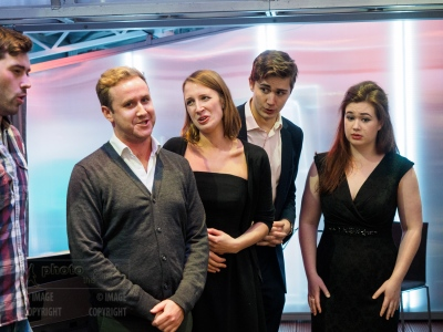 Singers from the Royal College of Music performing at the opening and private view of