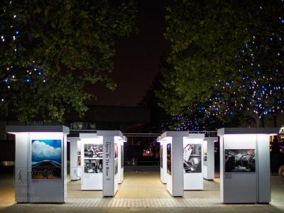 Edmond Terakopian's solo exhibition, Opera By The River on Riverside Walkway, South Bank, London. September 29, 2015. Photo: Edmond Terakopian