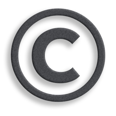 Copyright Symbol Textured