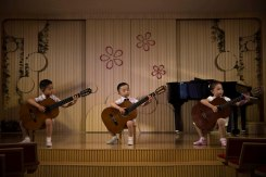 North Korean children perform at the Pyongyang Kyongsang Kindergarten. Photo by David Guttenfelder