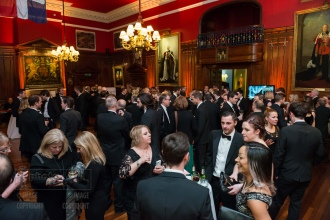 Drinks reception ahead of the UK Picture Editors' Guild Awards, Honourable Artillery Company, City Road, London. February 25, 2016. Photo: Ben Fitzpatrick