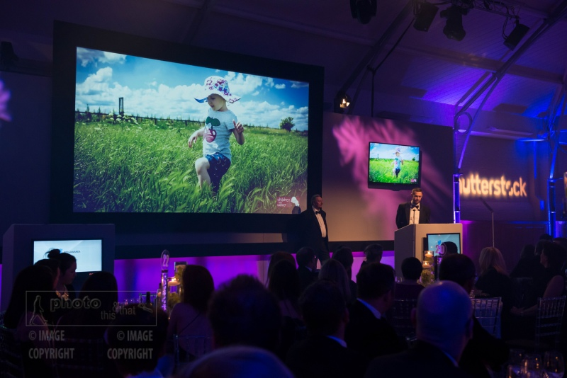 Andrew Parsons speaks at the UK Picture Editors' Guild Awards, Honourable Artillery Company, City Road, London. February 25, 2016. Photo: Ben Fitzpatrick