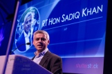 MP Sadiq Khan co-presented teh awards. UK Picture Editors' Guild Awards, Honourable Artillery Company, City Road, London. February 25, 2016. Photo: Ben Fitzpatrick