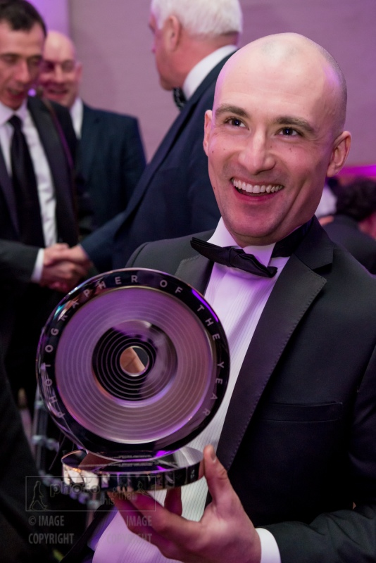 James Glossop, The Times,  SHUTTERSTOCK PRESS PHOTOGRAPHER OF THE YEAR 2015.  UK Picture Editors' Guild Awards, Honourable Artillery Company, City Road, London. February 25, 2016. Photo: Ben Fitzpatrick